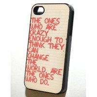 "Amazon.com: Black Iphone 4/4s Case --- Steve Jobs ""Crazy"": Cell Phones & Accessories"