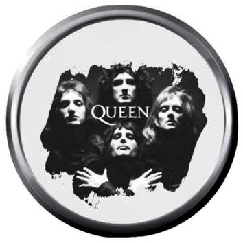 Rock You Queen Freddie Mercury And Queen Band Members Rock And Roll Hall Of Fame Musicians Legends  18MM - 20MM Fashion Snap Jewelry Snap Charm