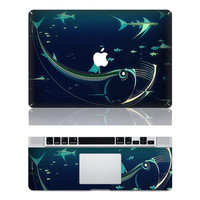 Fish Mac Decal Macbook Stickers Macbook Decals Apple by ttluck