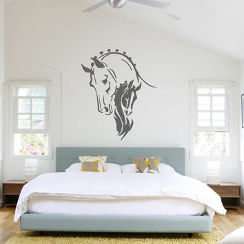ik689 Wall Decal Sticker head horse nag pet stallion thoroughbred horse bedroom