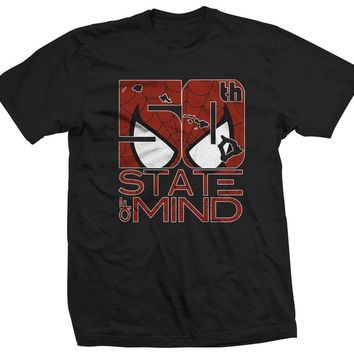 "50th State of Mind ""Spiderman"" Men's T-Shirt"