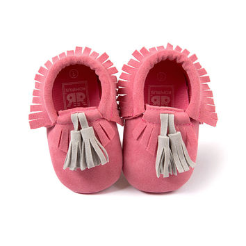 GIRL'S PINK MOCCASINS