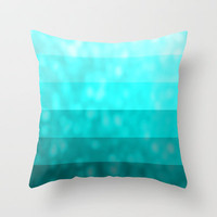 Teal Dream Throw Pillow by Lyle Hatch