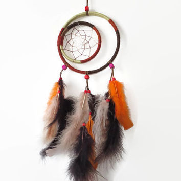 "6"" Dream Catcher. Native American Art. Large Dream Catcher. Southwestern decor. Natural Dream Catcher."