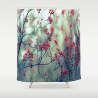 Winter Berries Shower Curtain by The Dreamery