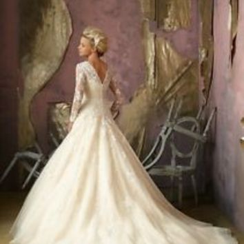 white/ivory/champagne Wedding dress Bridal Gown custom size 6-8-10-12-14-16+++