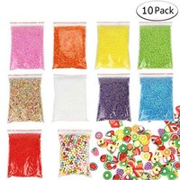 10 Pack Slime Foam Balls for Colorful Styrofoam Balls Beads Mini Decorative Ball Arts DIY Crafts Supplies For Homemade Slime