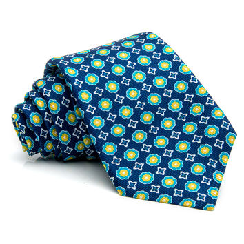 Kiton Navy with Yellow Floral Tie