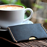 Matte Black Credit Card Holder -- Groomsmen Gifts -- Handmade Gift Ideas