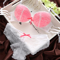 Women's Female New Arrival Lace Embroidery Good Selling Chic Underwear Comfortable Stylish Push Up Solid Hollow Bra Sets