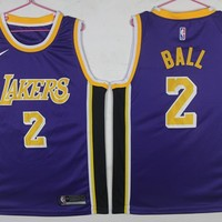Los Angeles Lakers #2 Ball Basketball Jersey