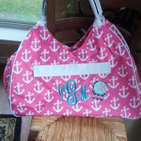 Monogrammed Large Tote - Beach - Travel