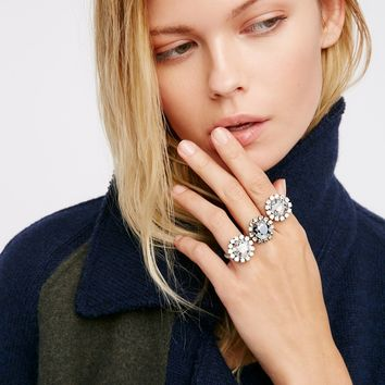 Free People Triplet Crystal Ring