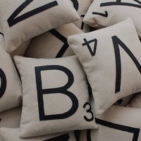 3 Letter Pillow CASES ONLY by shopdirtsa on Etsy