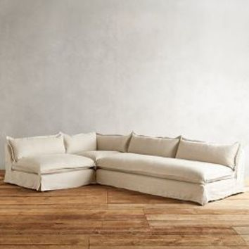 Belgian Linen Tassa Sectional by Anthropologie