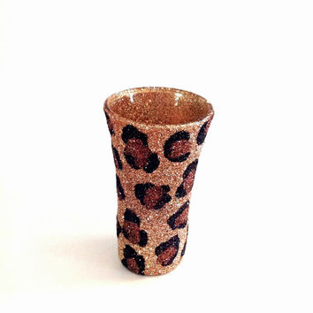 Cheetah print shot glass