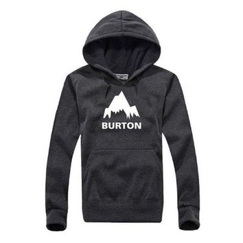 New Autumn Winter Burton Printed Hoodies Men Casual Fleece Long Sleeve Overcoat High Quality Male Hip Hop Pullover Sweatshirts