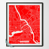 Sherbrooke Print, Canada Poster, Sherbrooke Map, Canada Print, Sherbrooke Poster, Canada Map, Quebec Map, Quebec Print, Wall Art