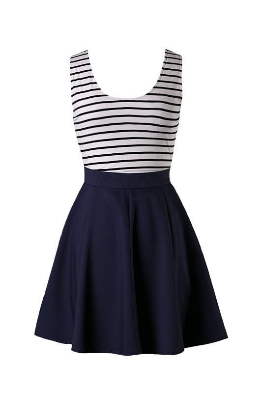 71c0a1c3723 Sailor Stripes Dress - Navy from Blue Chic Boutique