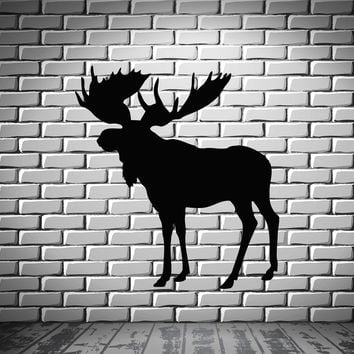 Elk Deer Animal Forest Hunting  Mural  Wall Art Decor Vinyl Sticker z674