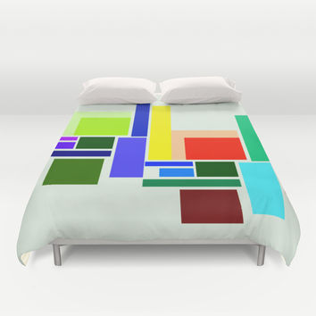 colorful pattern Duvet Cover by Haroulita