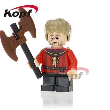 Single Sale Game of Thrones Ice and Fire Building Blocks Tyrion Lannister Caitlin Eddard Stark Bricks Toys for children PG1056