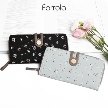 Floral Leather Women Wallet Female Long Portable Multifunction Wallets Hot Change Lady Coin Purses Card Holder For Girls