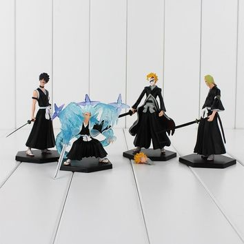 4 BLEACH Kurosaki Ichigo PVC Figure/ Toys Collections Model Dolls