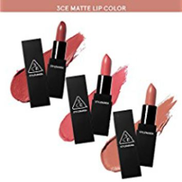 3CE Matte Lip Color / New colors / MLBB Lipstick / Stylenanda (119 Hold On)