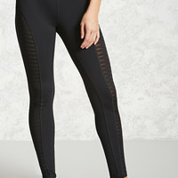 Active Striped Mesh Leggings