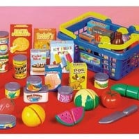 Small World Toys Living -Get to the Grocer Shopping Basket Playset