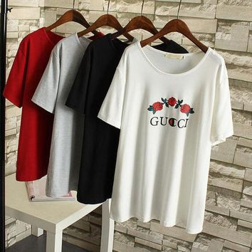 Gotopfashion Fashion GUCCI short sleeve man women tee T-shirt top plus size""
