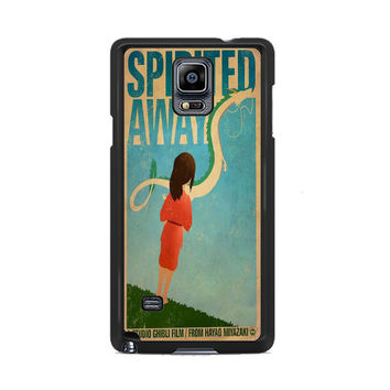 Spirited Away Retro Poster Samsung Galaxy Note 3|4  Cases
