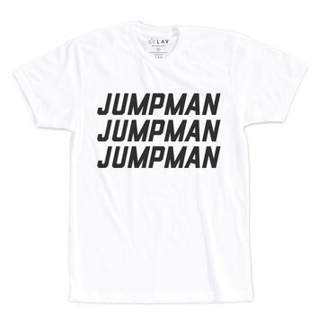 JUMPMAN JUMPMAN JUMPMAN | TEXT SHIRT