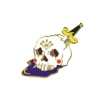 Skull And Dagger Pin