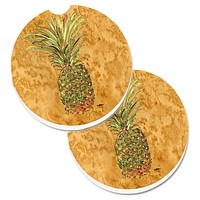 Pineapple Set of 2 Cup Holder Car Coasters 8654CARC