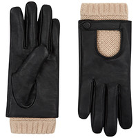 Leather And Knit Driving Glove   Multi   Accessorize