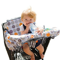 """Lumiere Shopping Cart Cover for Baby & Toddler - """"Roll-in"""" Stylish Pouch, 360 Germ Protection, Entertainment Within Reach (Modern Polka Dots)"""