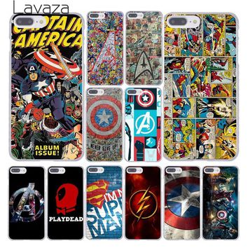 Deadpool Dead pool Taco Lavaza The Avengers Marvel  Flash Captain America Clear Case for Apple iPhone X XR XS Max 6 6S 7 8 Plus 5 5S SE 5C 4S 10 AT_70_6