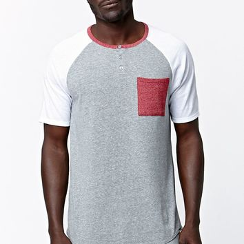 On The Byas Roman Tricolor Henley T-Shirt - Mens Tee