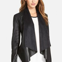 Women's KUT from the Kloth 'Ana' Faux Leather Drape Front Jacket,