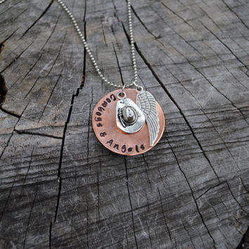Cowboys & Angels Necklace Dustin Lynch by MelissasMonograms