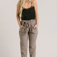 Riley Mocha Tapered Pants