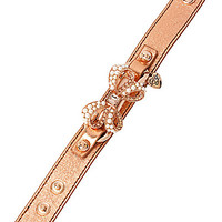 BETSEY LEATHER PEARL BOW CUFF MULTI