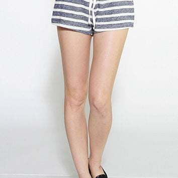 Striped Terry Lounge Shorts