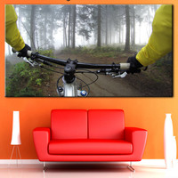 Cycle Racing canvas, Cycle Racing photo, Canvas sports decor, Sports room decor, Sport canvas art, Gallery wrapped, Art large canvas, Canvas