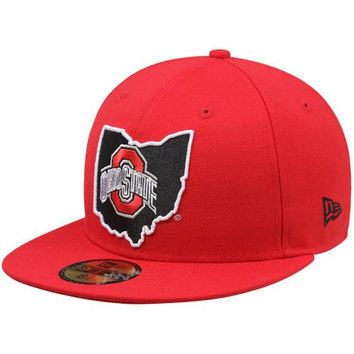 New Era Ohio State Buckeyes 59FIFTY State Fitted Hat - Scarlet