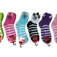 Fuzzy Cozy Animal Socks with non-Slip Grips
