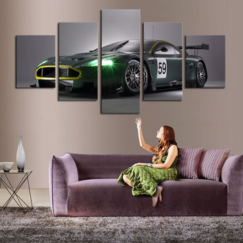 5 P(No Frame) Dream Racing Green Wall Art Picture Home Decoration Living Room Canvas Print Painting Wall picture print on canvas