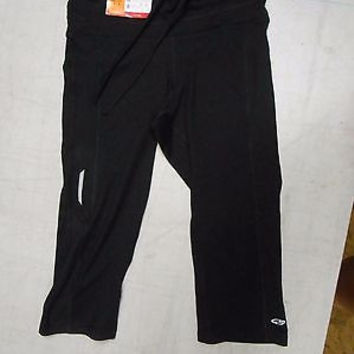 C9 Champion Women's Fitted Mesh Accent Capris, X-Small, Black